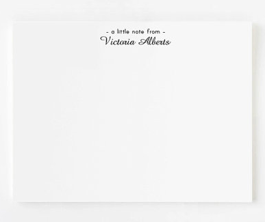 Personalized stationary from Etsy