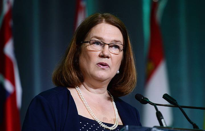 Jane Philpott, ministra de salud de Canadá. Foto de Sean Kilpatrick, The Canadian Press.