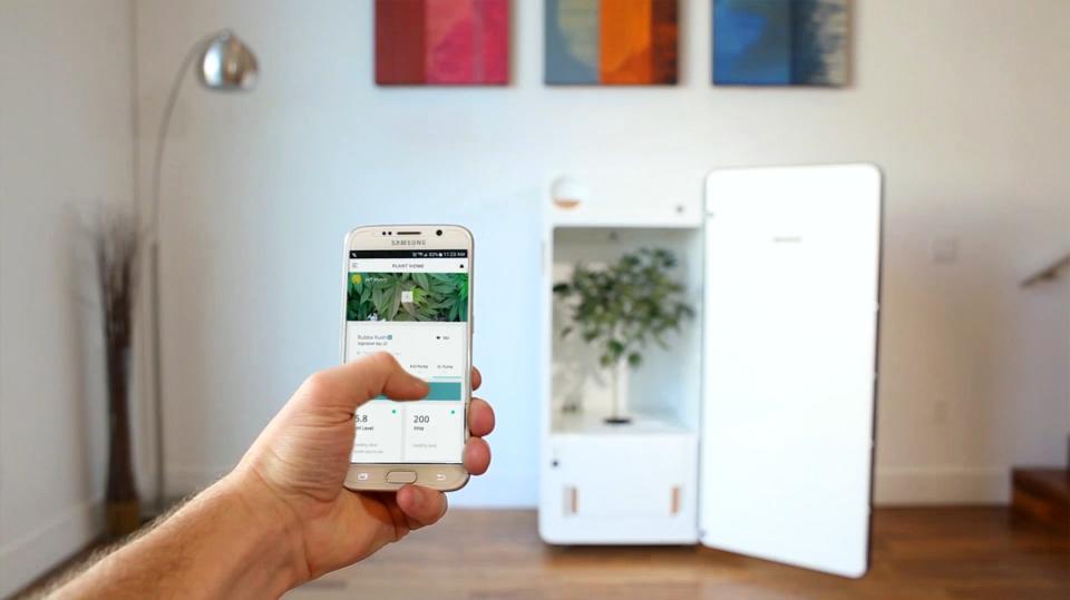 LEAF se puede controlar a través de cualquier Smartphone. Foto de LEAF para Forbes.