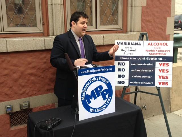 Mason Tvert, Director de comunicaciones de Marijuana Policy Project.