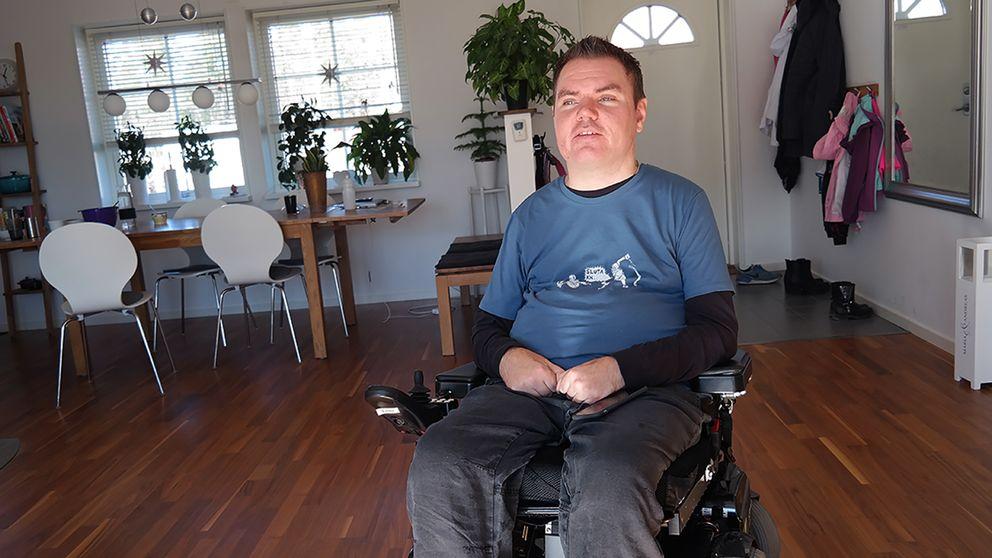 Andreas Thorn, paciente de lesión de médula espinal y primer paciente sueco en recibir un tratamiento de cannabis medicinal.