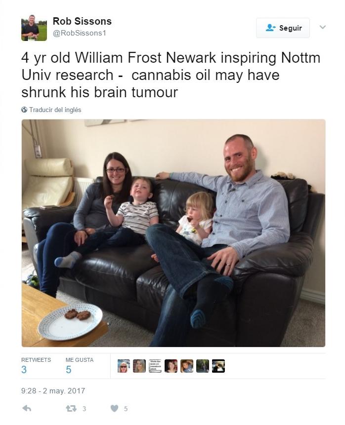 William Frost junto a su familia, inspiradores del nuevo estudio de la Universidad de Nottingham.