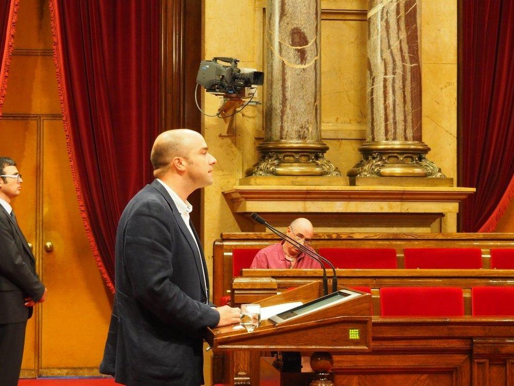 Raúl Moreno, diputado del PSC durante su intervención. Foto: Soft Secrets.