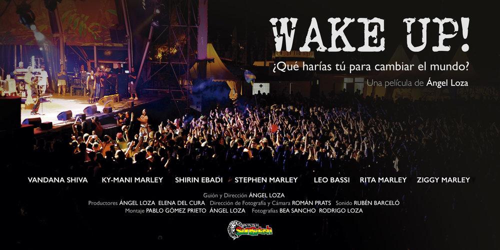 El cartel de la película 'WAKE UP!' ¿Qué harías tú para cambiar el mundo?