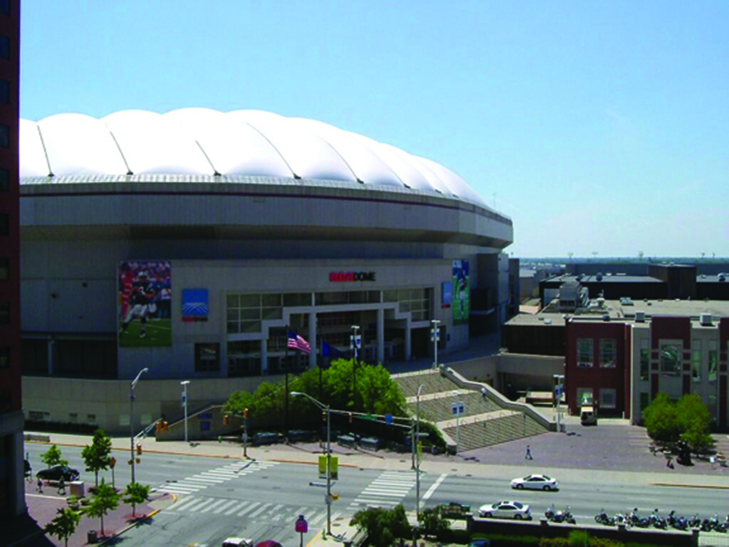 RCA Dome before it was deflated in 2008.