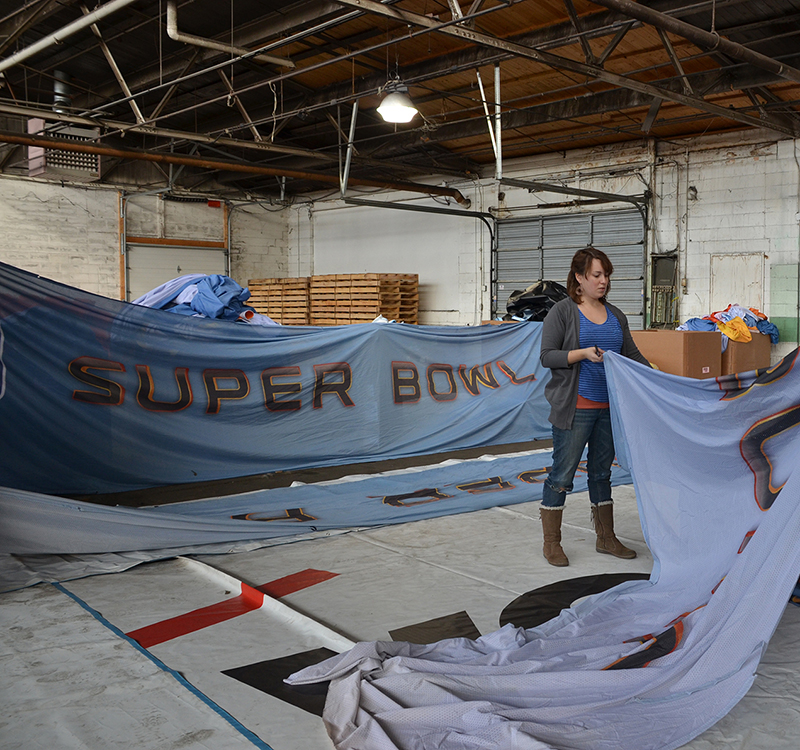 SUPER BOWL XLVI FABRIC  //  SALVAGE