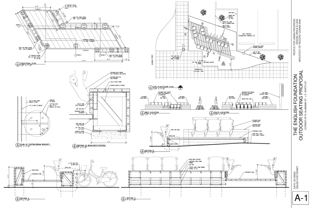 Architect Donna Sink's amazing construction drawings, used for the installation.