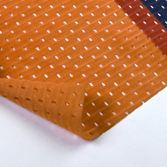 SUPER BOWL XLVI         FABRIC MESH Known as fence-warp, this mesh fabric was designed for the elements. We use it to line the interiors of our larger bags.