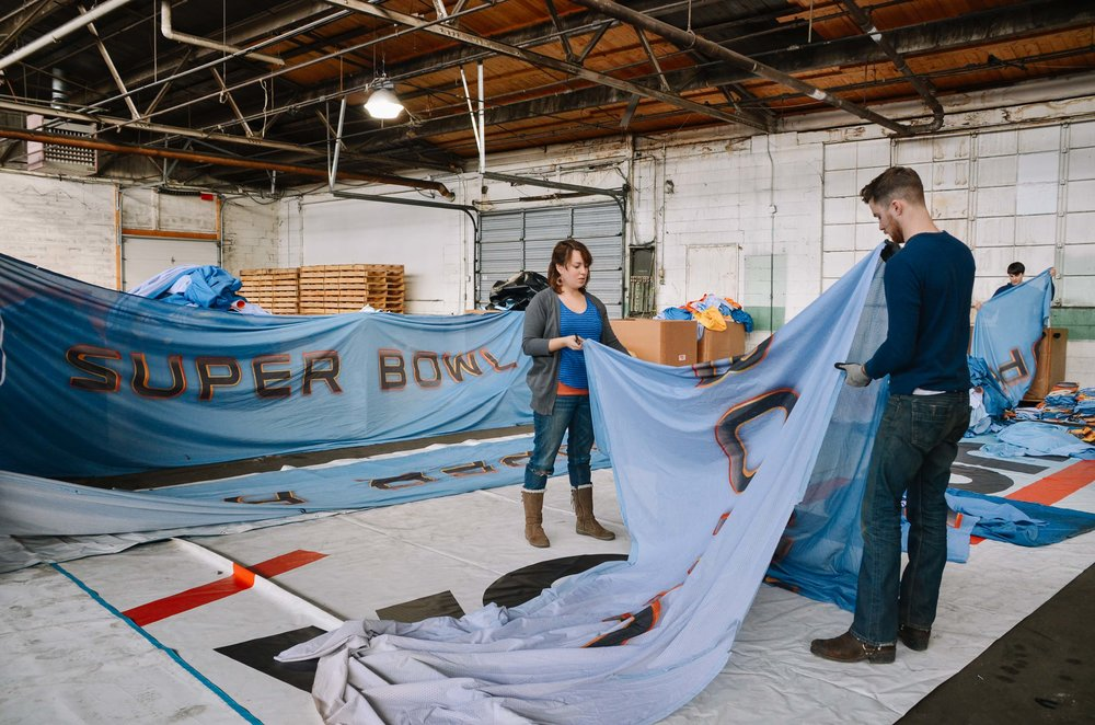 super bowl xlvi banner salvage -