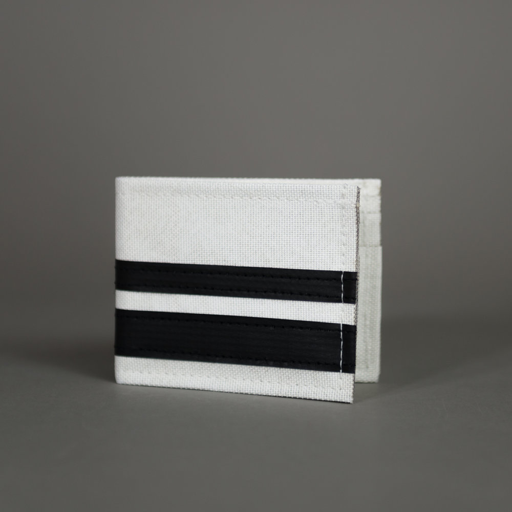 "CHIEF DOUBLE - Bi-Fold Wallet Variants: White/Black/Red/Green/Blue/Orange Dims: 3.25""/4"" (folded)"