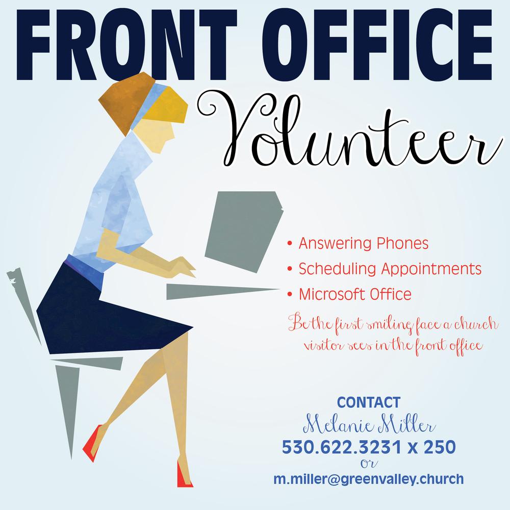 Volunteer Front Office