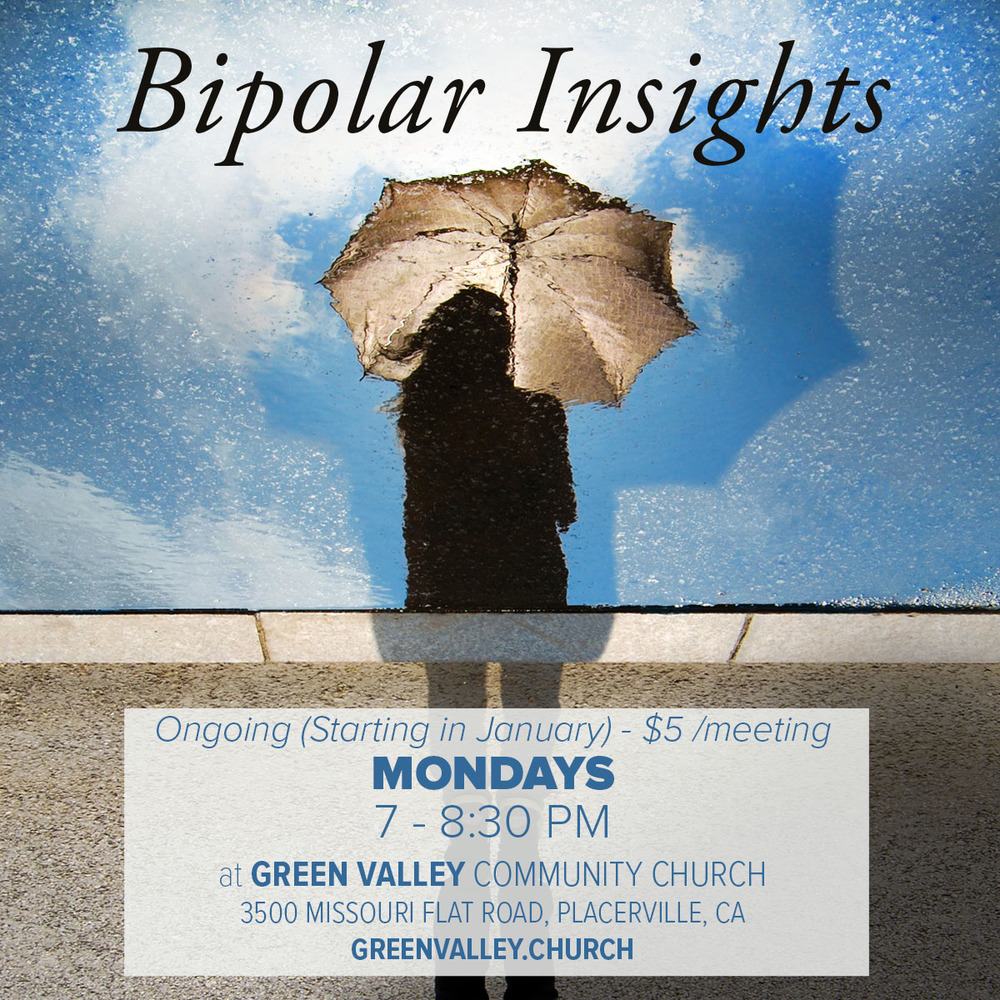 Bipolar Insights Support Group starts back up January 4 at 7 PM
