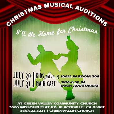 Christmas Musical 2016 Auditions July 30 & 31