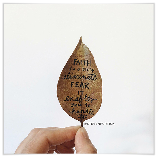 Faith on leaf