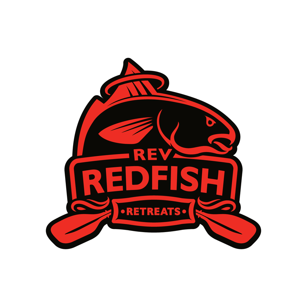 Logo and identity design for Reverend Redfish.
