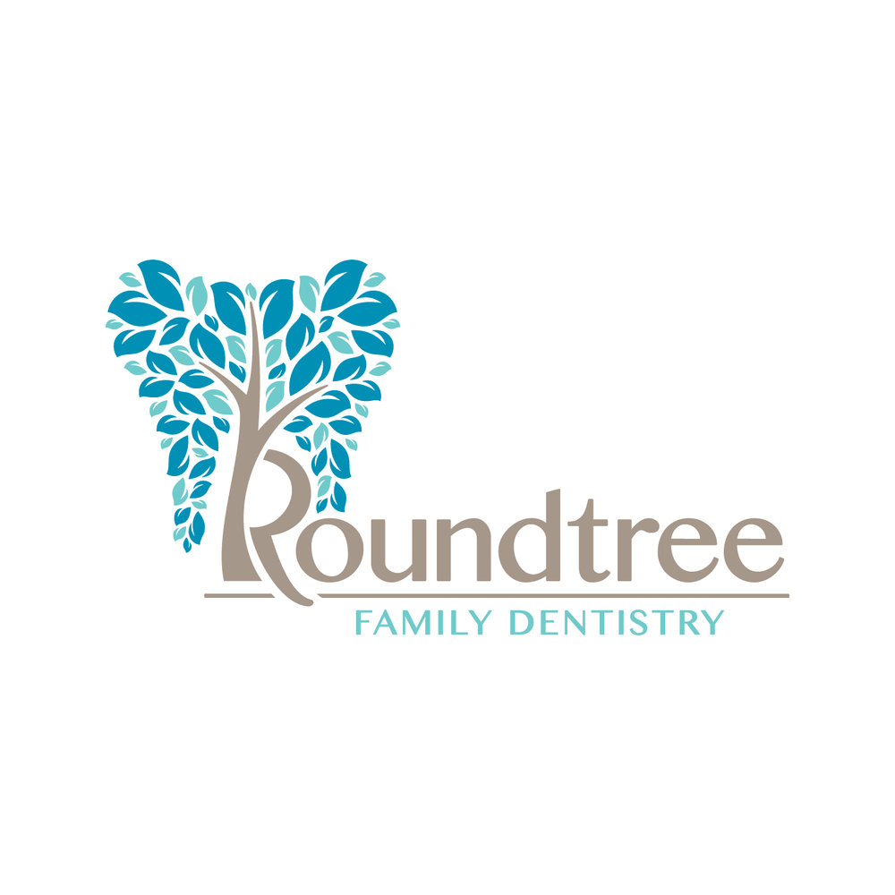 Logo & identity design for Roundtree Family Dentistry.
