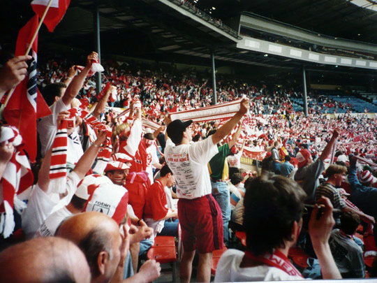 Royal Antwerp fans in Wembley.