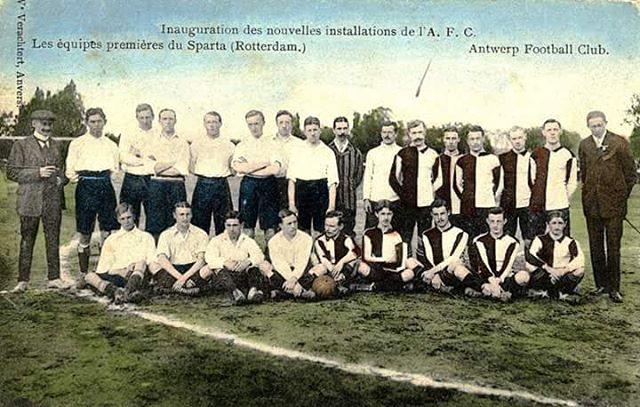 ❤ this picture - Royal Antwerp Football Club vs Sparta Rotterdam - opening new ground Broodstraat in 1908 ❤  #rafc #Antwerp #Sparta #Rotterdam #old #picture #football #footballground