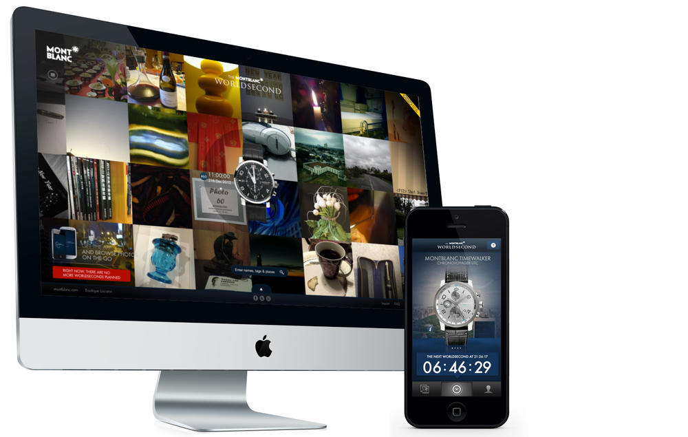 The desktop site and mobile app
