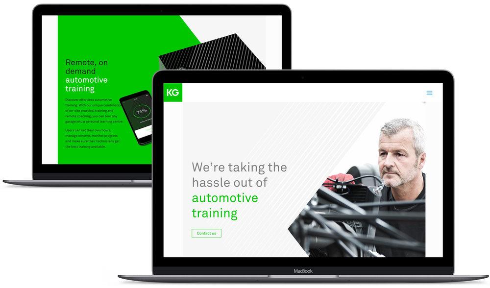 KG Protech's new website.