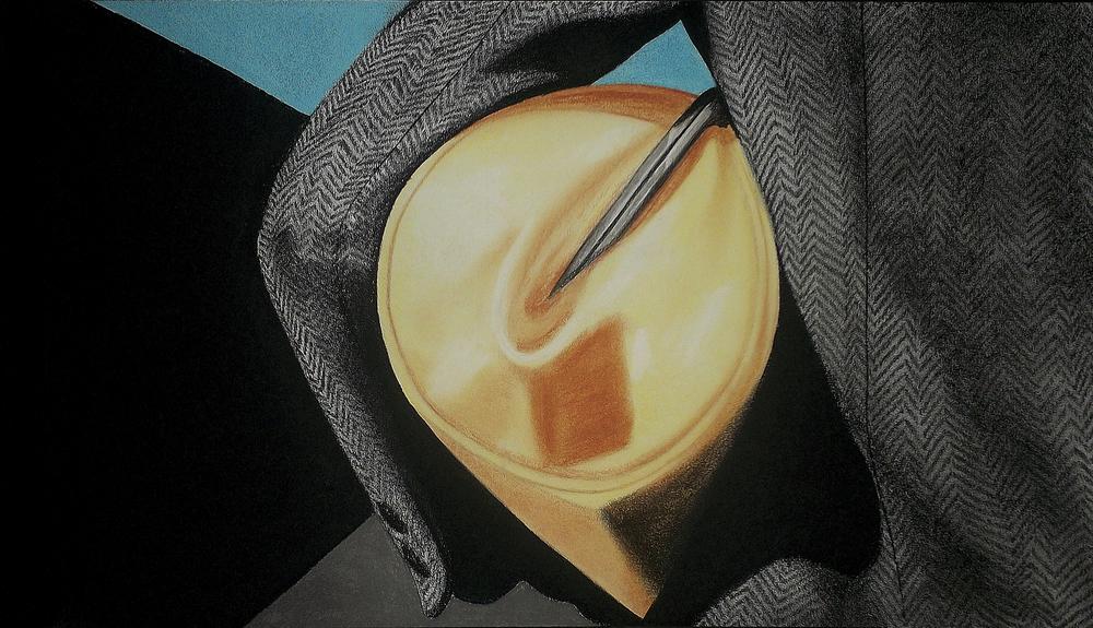 ÔÇ£MarnieÔÇØ(2013)Dibujo, la¦üpiz y pastel sobre papel. Medidas 70 x 40 cm.jpg