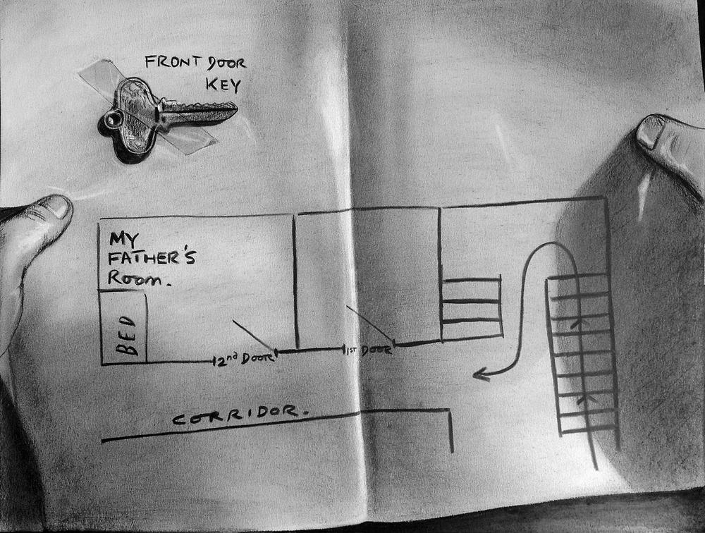 ÔÇ£MapÔÇØ(2012)Dibujo, la¦üpiz de carbo¦ün y pastel sobre papel. Medidas 40 x 30 cm.jpg