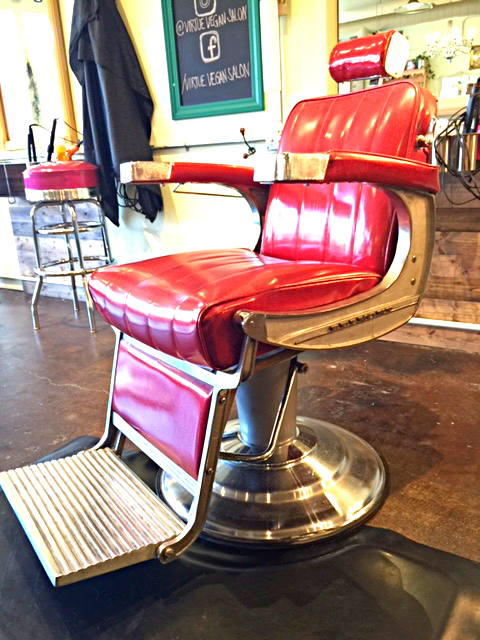 The Red Belmont Barber Chair   This Piece May Be The Most Pivotal In The  Salon. The Barbering Chair Once Belonged To Melanieu0027s Great Grandfather.