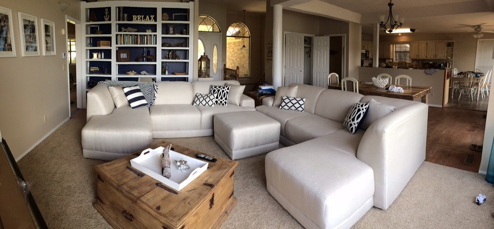 Panoramic Picture Of The New Living Room Furniture As Well Dining And