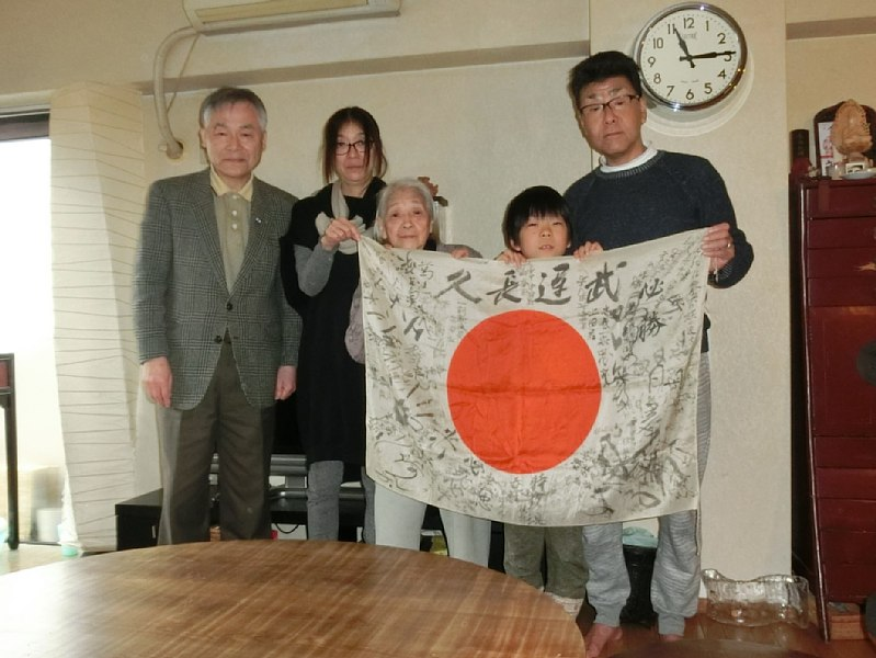 (from left to right) OBON 2015 associate in Fukuoka, Sukio's daughter, Sukio's wife (Sachiko), Sukio's grandson and Sukio's son-in-law