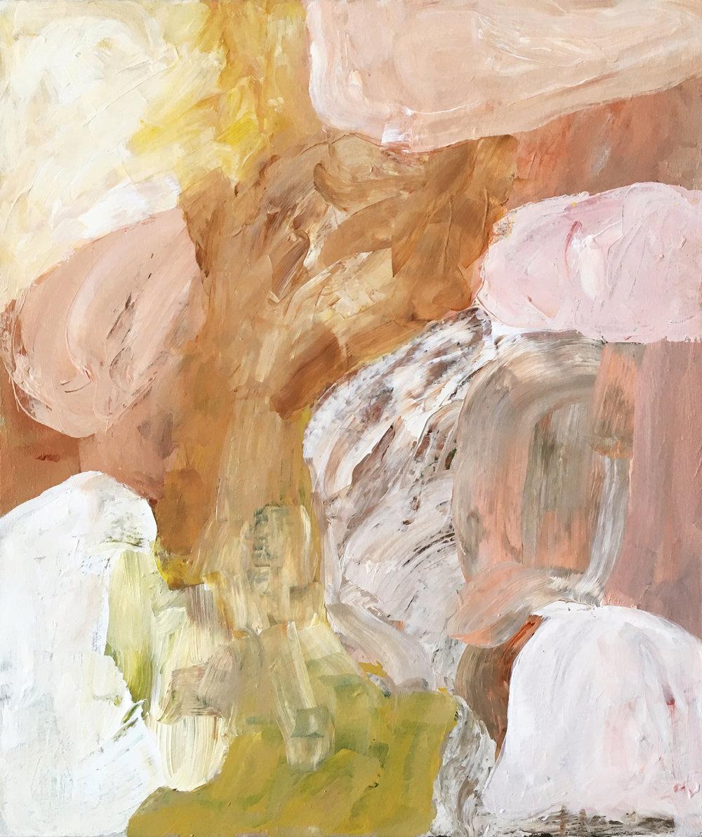 "Behind the Wind , acrylic on canvas,25 x 21"", 2017"