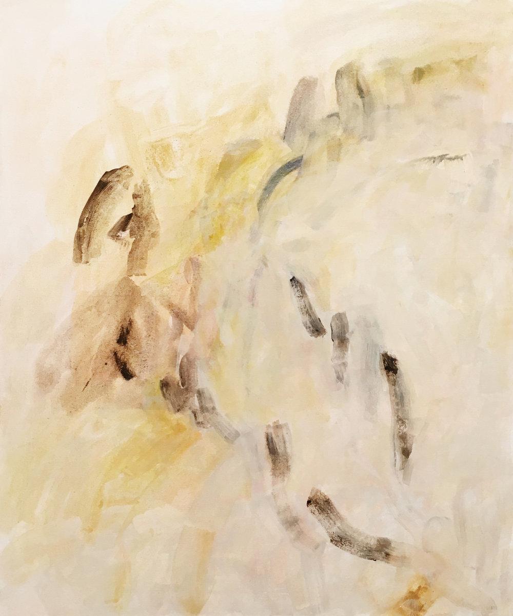 "Untitled , acrylic on canvas, 30 x 36"", 2017"