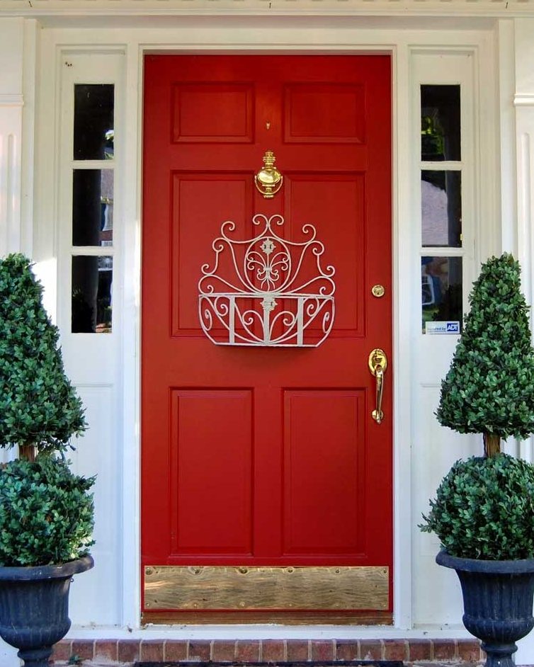 "And then, there's always the classic ""Talbots"" red, with shiny brass hardware. So refined."