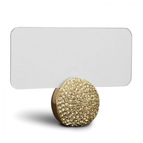 Pave Sphere Gold Placecard Holders, s/6 $350.00