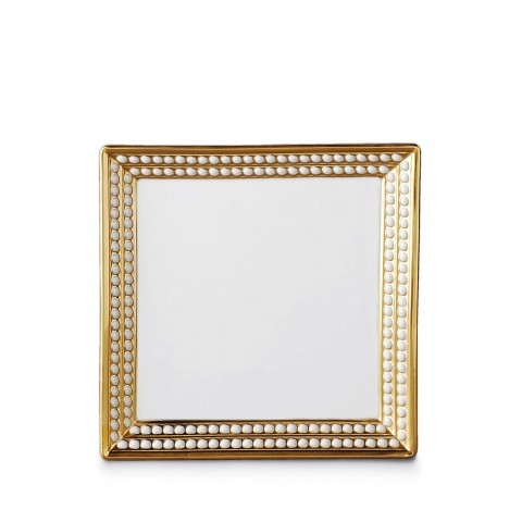 Perlee Gold Square Tray 8 in $420.00