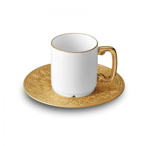 Han Gold Espresso Cup + Saucer     $124.00