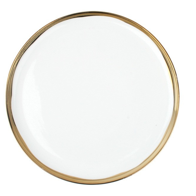 Dauville Dinner Plate Gold Sold in Sets of 8  $35.00 each