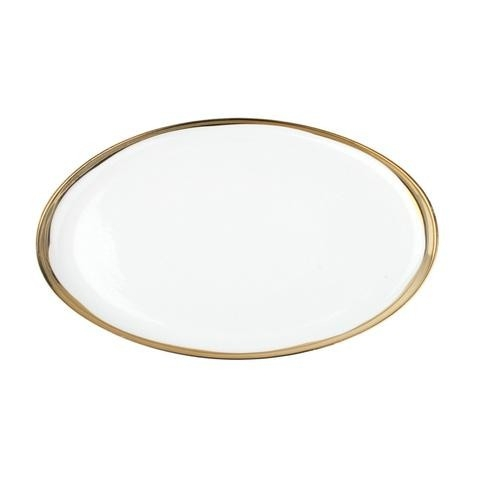 Dauville Oval Platter Small Gold Rim Sold in Sets of 2 $50.00 each