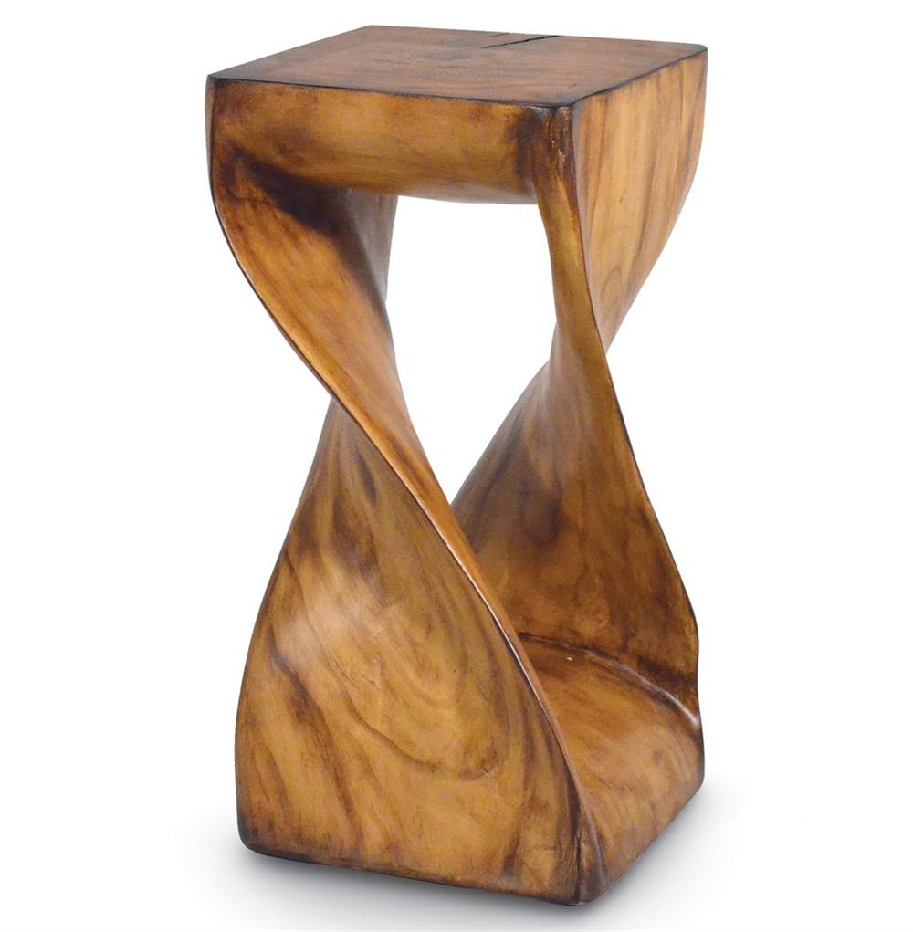 Helix Twisted Wood Side Table $834.00