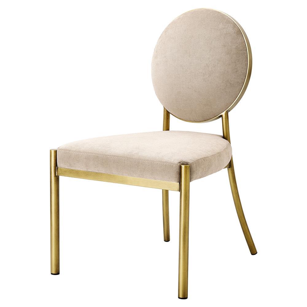 Scribe Modern Classic Greige Velvet Dining Side Chair $875.00