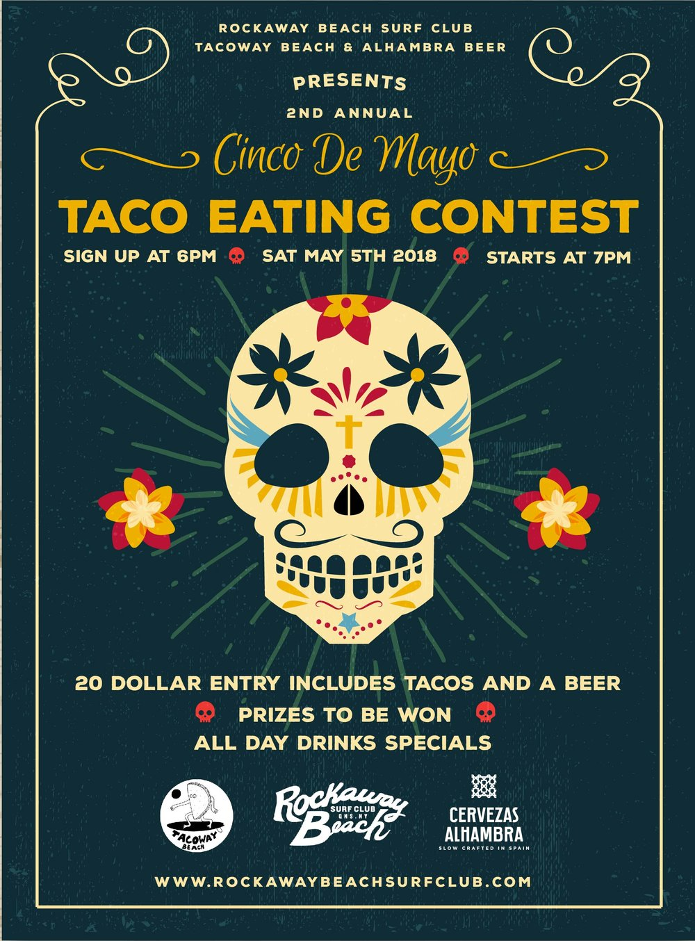 rockaway beach surf club tacoway beach taco eating contest