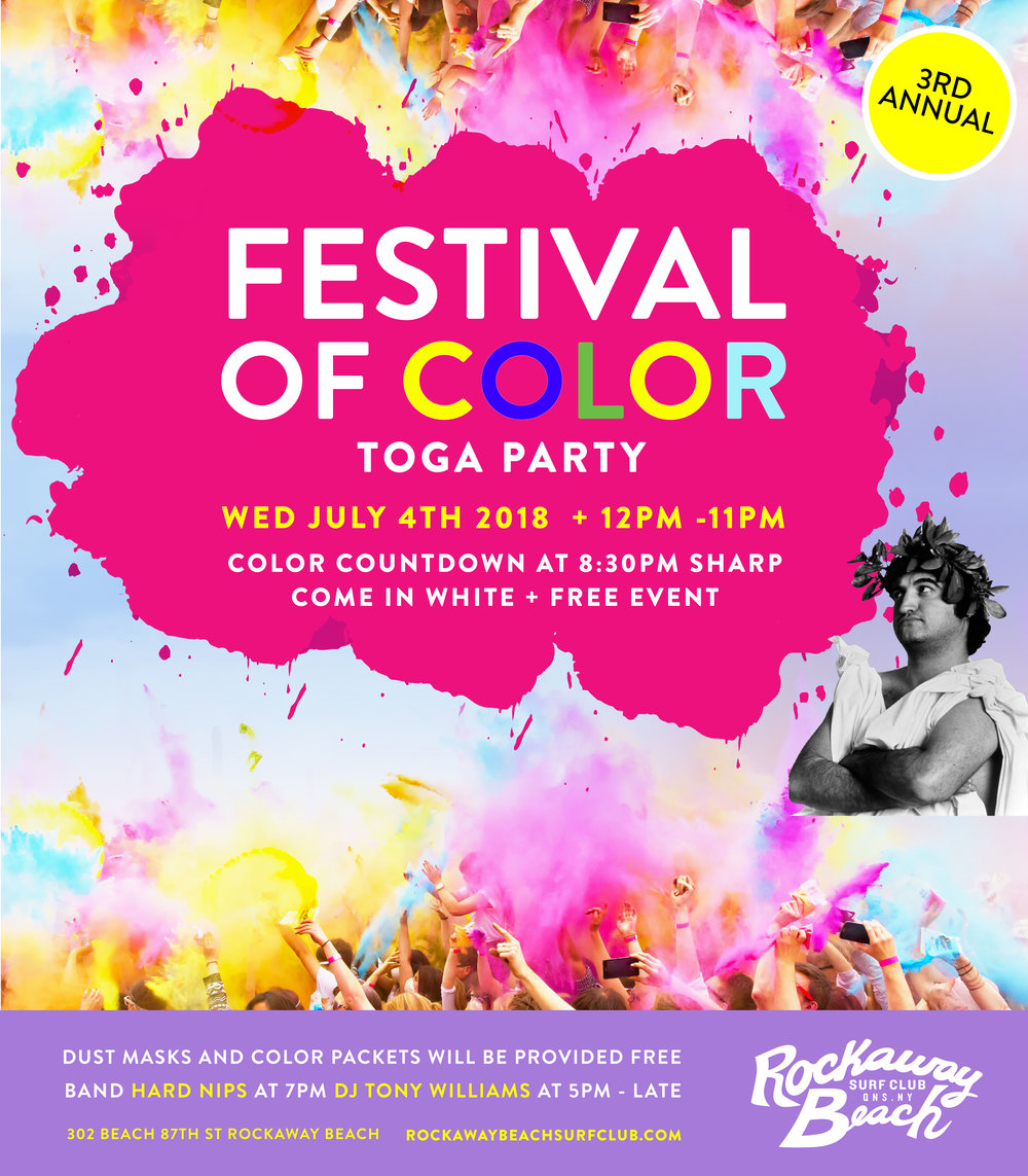 festival of color rockaway beach surf club 2018