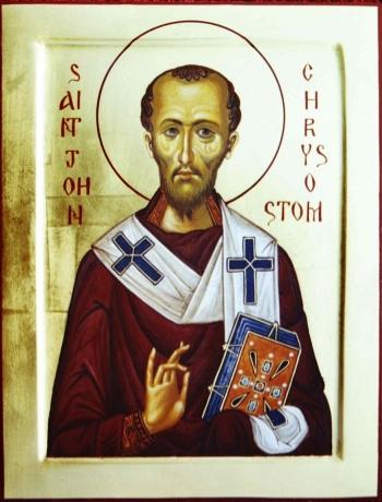 St. John Chrysostom is commemorated today.