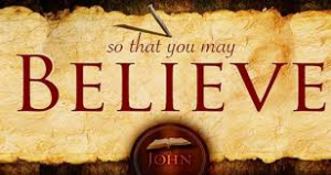 "Jesus said, ""...be believing"".  Today is also sometimes called ""Thomas Sunday"""