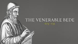 St. Bede the Venerable (673-735) translating the Gospel of St. John.