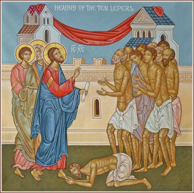 Jesus Heals Lepers of Leprosy and Sinners from Sin