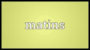 Matins Service - March 7