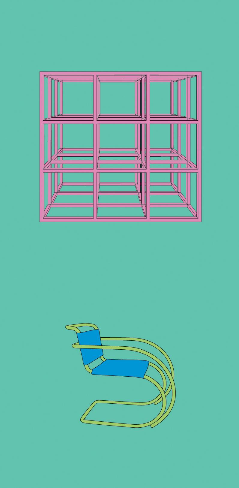Michael Craig-Martin    LeWitt• 2012 Serigrafia Edição: 50   100 x 46 cm