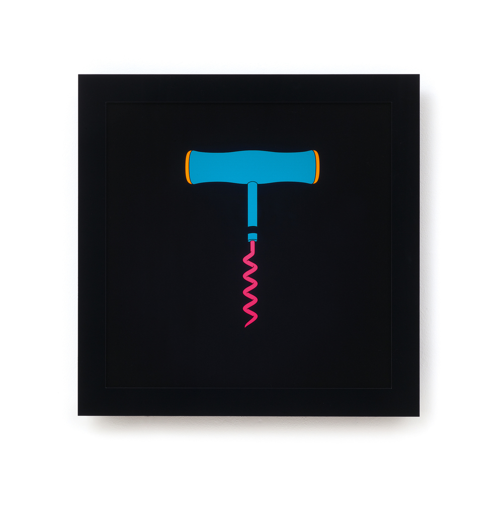 Michael Craig-Martin   Corkscrew • 2013   Caixa de Luz (serigrafia, acrilico, LED)   Edição: 15   60 x 60 cm