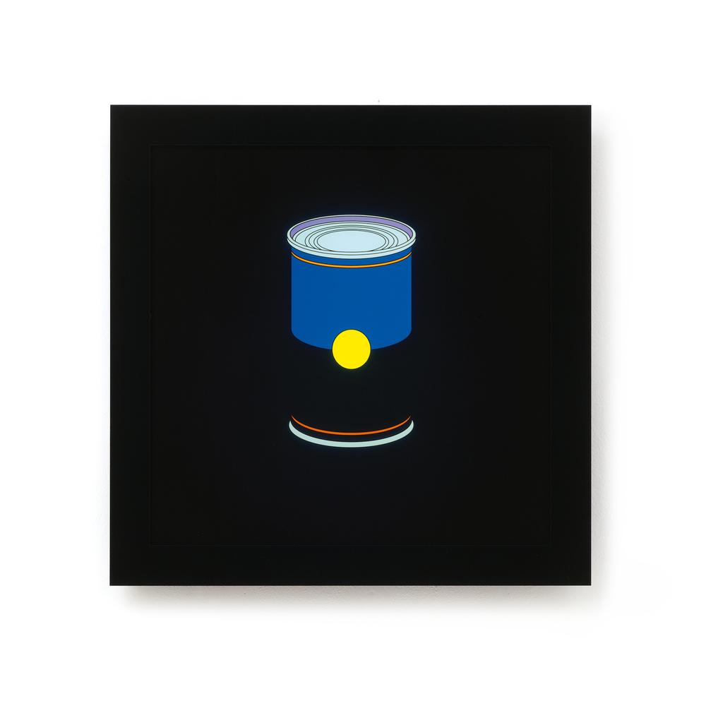 Michael Craig-Martin   Soup Can• 2013   Caixa de Luz (serigrafia, acrilico, LED)   Edição: 15   60 x 60 cm