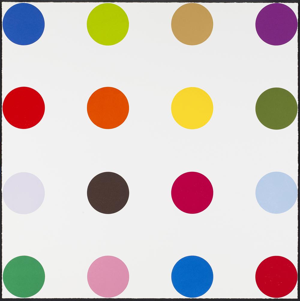 Damien Hirst    Cocarboxylase • 2010 Xilogravura   Edição: 48   106.8 x 106.8 cm